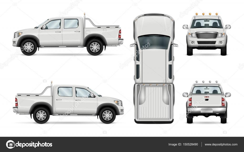 Camioneta de vector sobre fondo blanco — Vector de stock ...