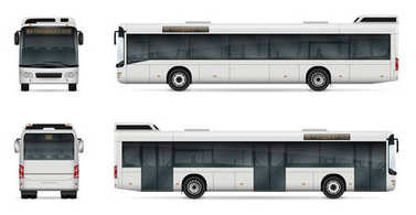 City bus vector template