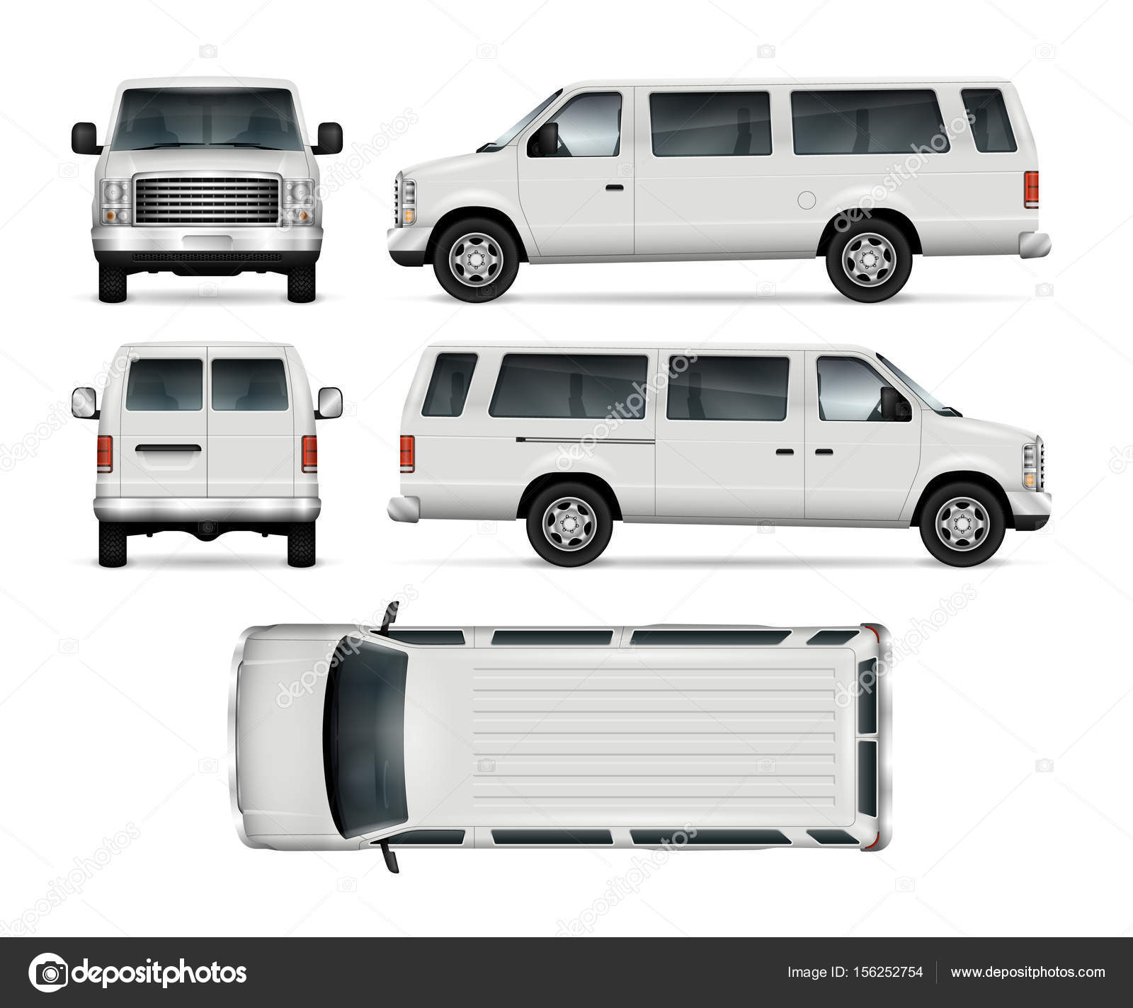 Plantilla de Vector de Mini Bus — Vector de stock © imgvector ...