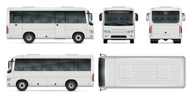 Mini bus vector illustration