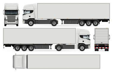Semi-trailer truck vector illustration