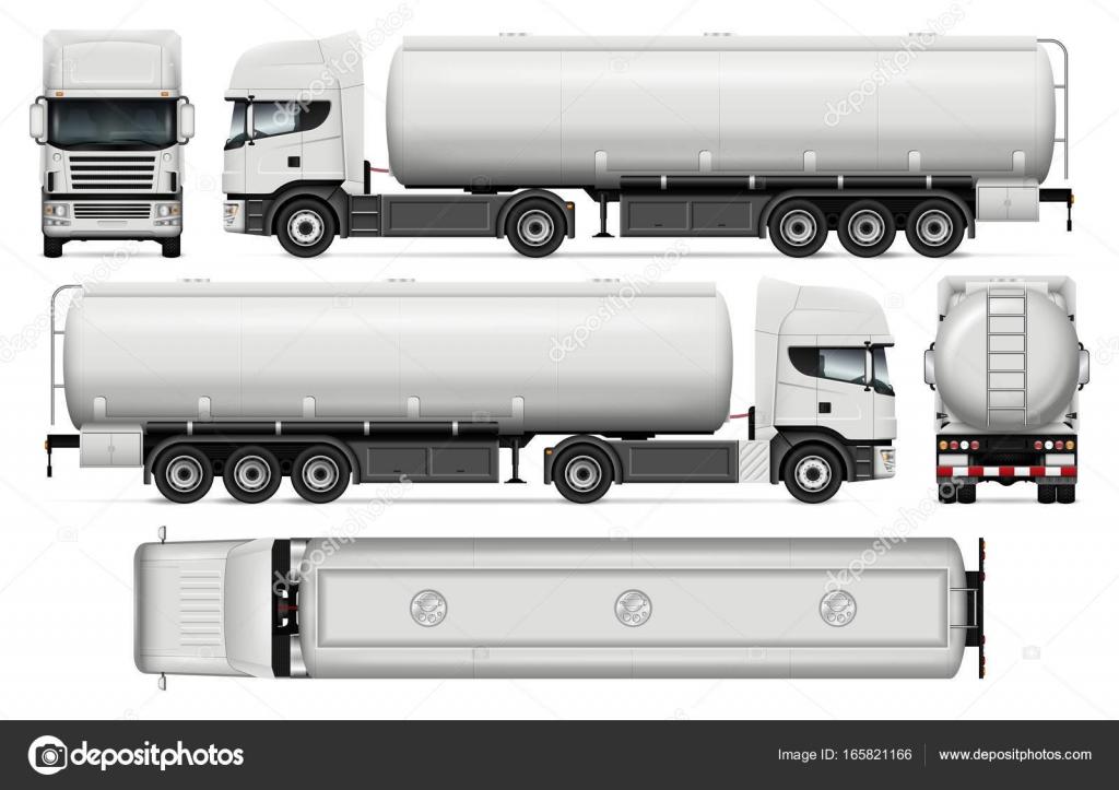 Plantilla de vector de camión cisterna — Vector de stock ...