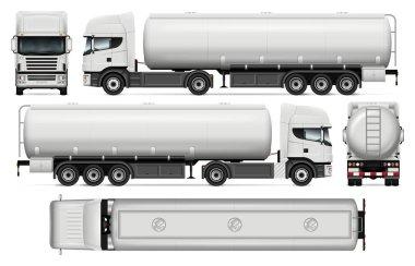 Tanker truck vector template.