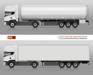 Trucks vector mock-up.