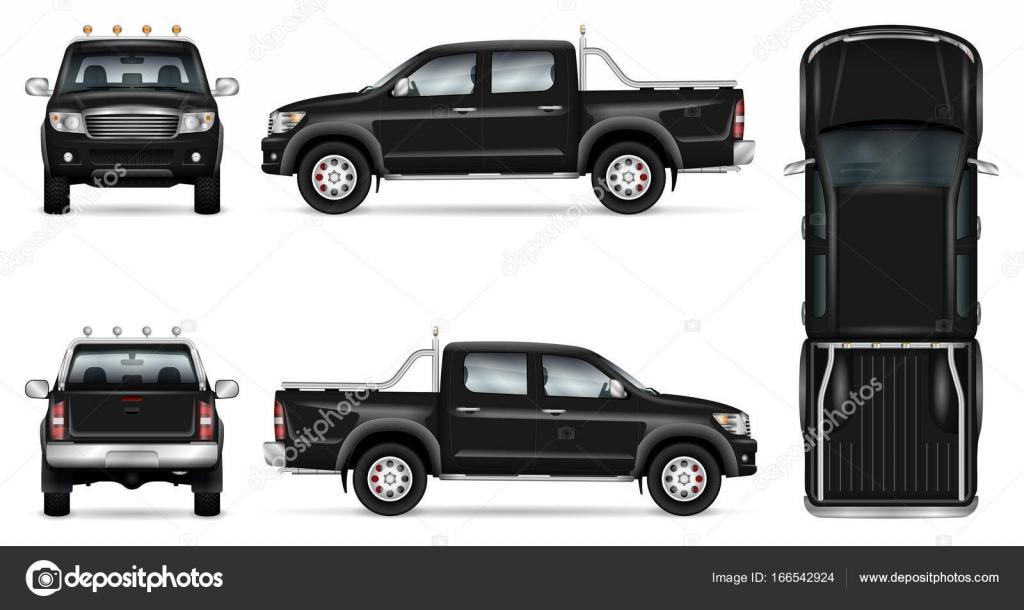 Maqueta de vector de camioneta — Archivo Imágenes Vectoriales ...