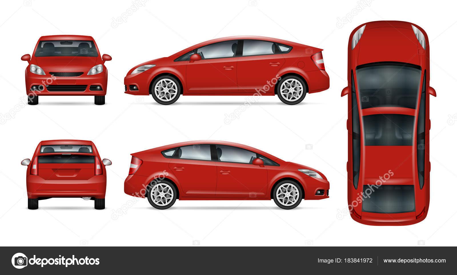 Plantilla de vector de coche rojo — Vector de stock © imgvector ...