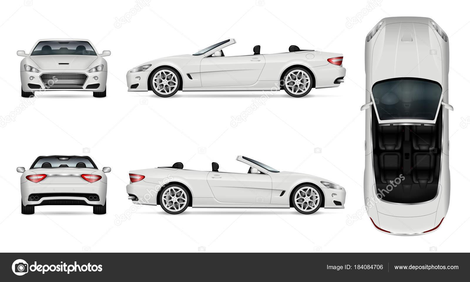 Maqueta del Cabriolet coche vector — Vector de stock © imgvector ...