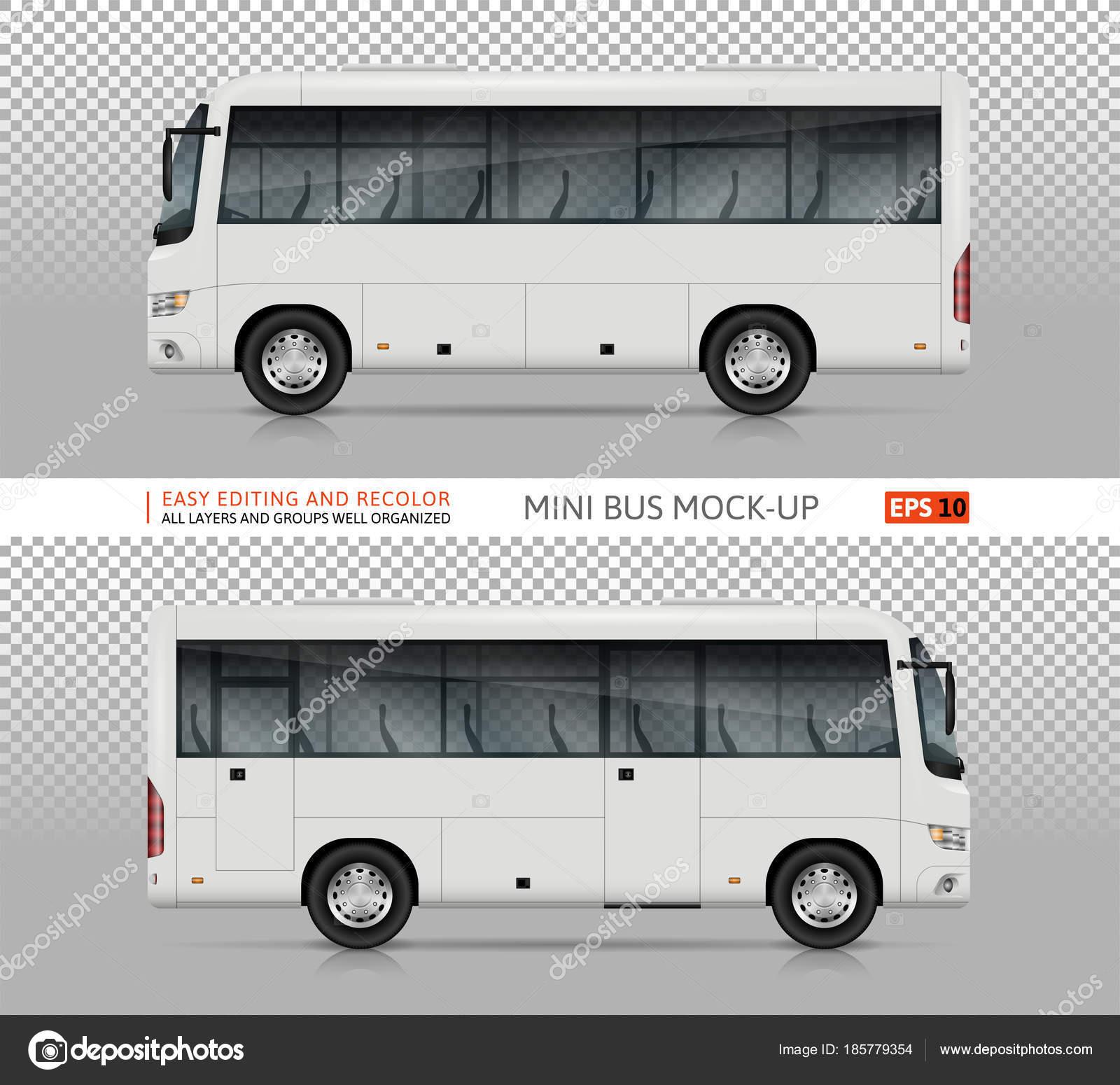 Mini-Bus Vektor Vorlage — Stockvektor © imgvector #185779354