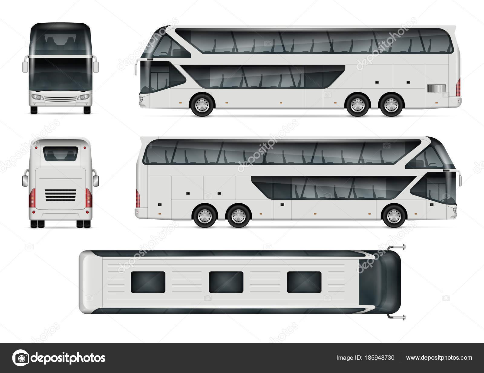 Reisen Bus Vektor Vorlage — Stockvektor © imgvector #185948730