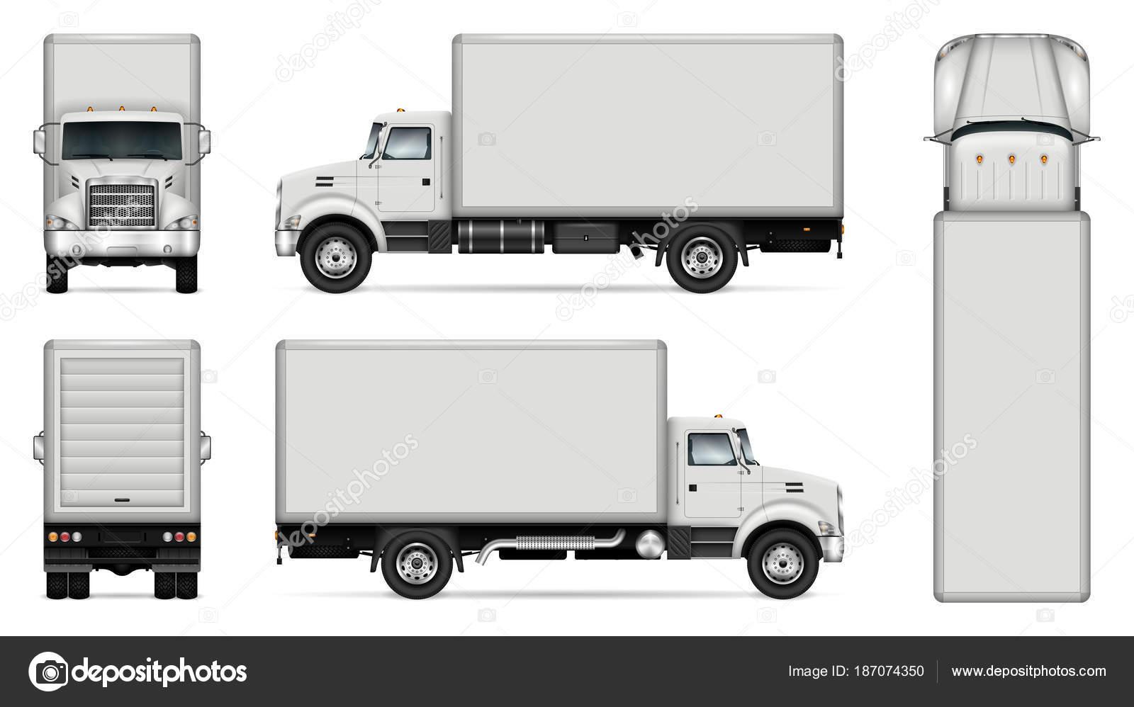 box truck vector mockup stock vector imgvector 187074350
