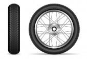 Motorrad Räder Vektor-Set