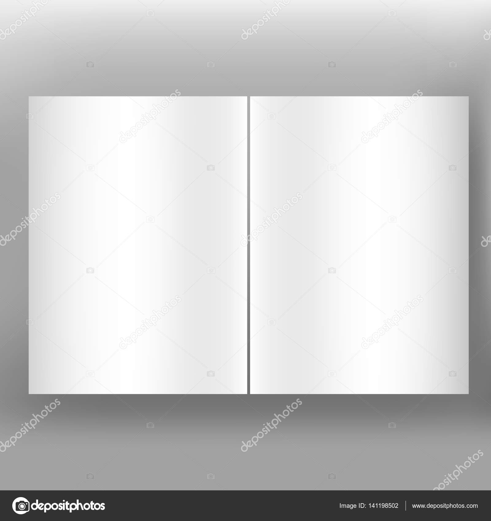 Folded white paper sheets on grey background. Can use for business ...