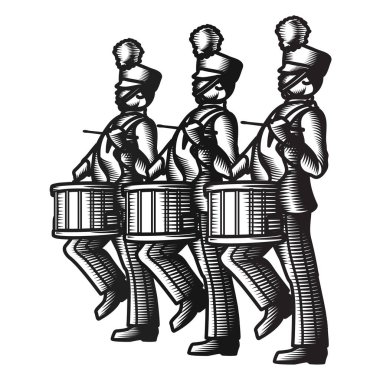 Marching Soldier Drummers