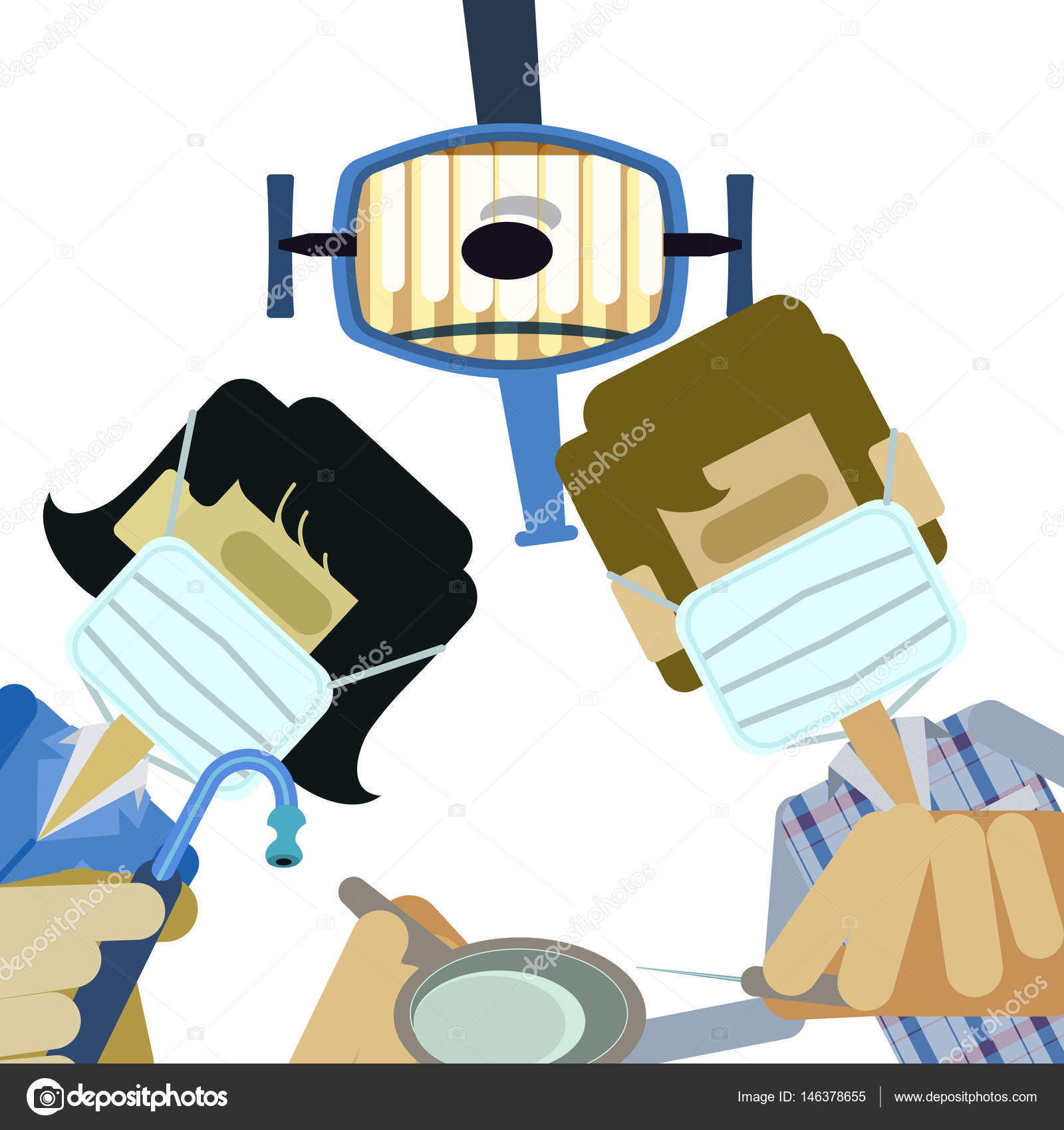 Dentist And Dental Assistant Stock Vector 146378655