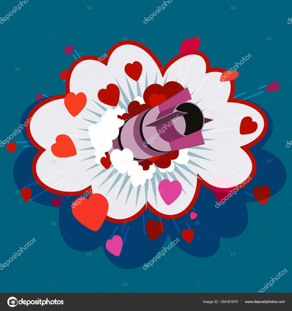 Love Bomb Hearts Stock Vector Aroderick 154161970