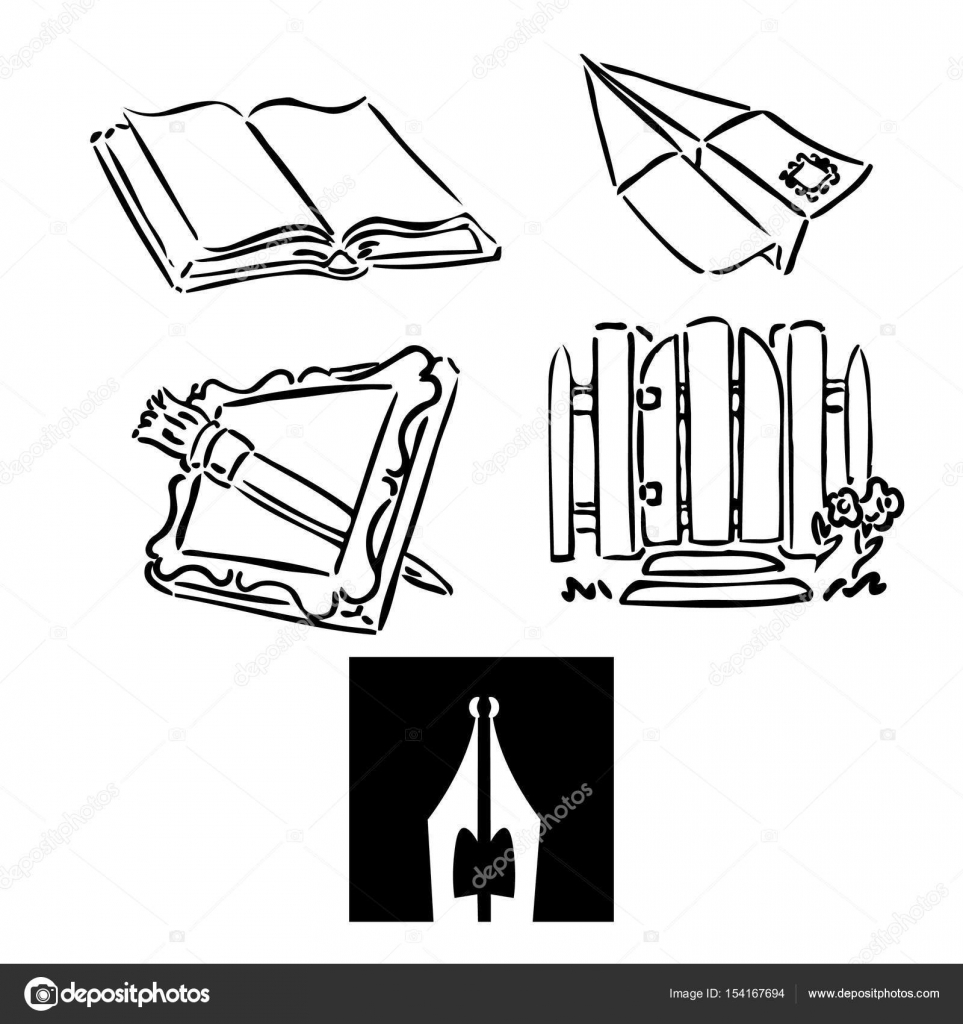 Book plane frame nib stock vector aroderick 154167694 book plane frame nib stock vector jeuxipadfo Gallery
