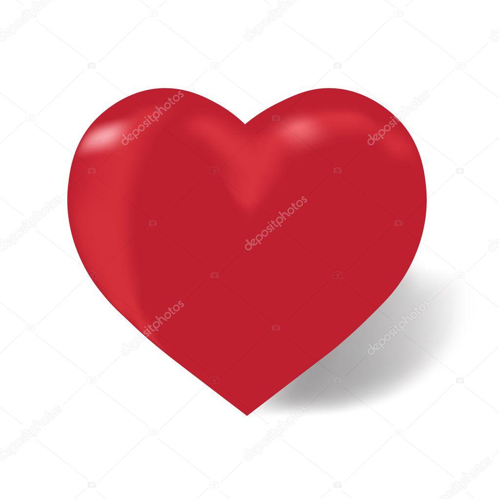 Imágenes Corazon Color Rojo Corazón De Color Rojo Sobre Un Fondo