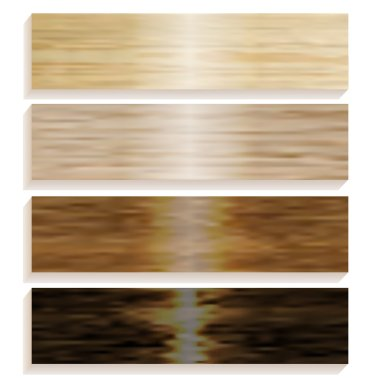 Set the boards of various wood. Laminated flooring. Wooden background. Wood texture. illustration