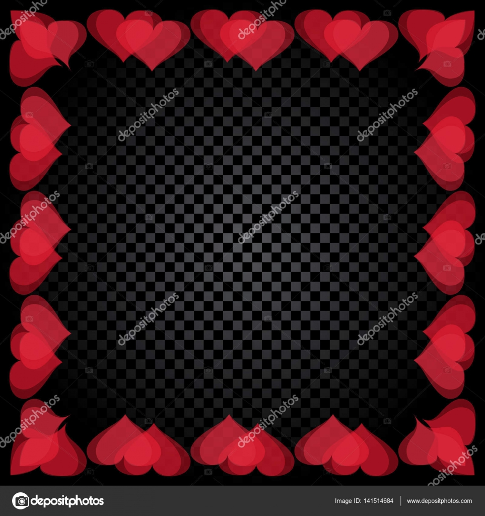 Translucent red heart shaped frame are located. Gradient Checker ...