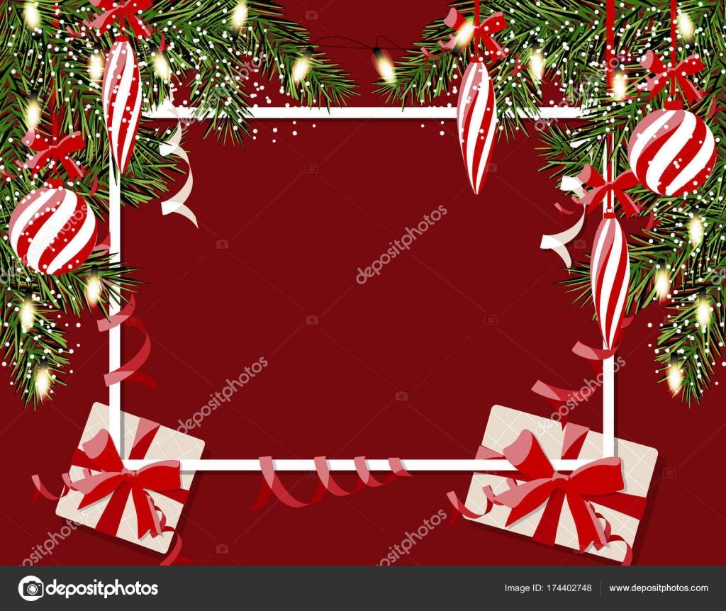 Nouvel An Nol De S Flyer Cartes Visite Postales Et Des Guirlandes Sans Une Maille Dgrad Boules Rayes Cadeaux Glaons