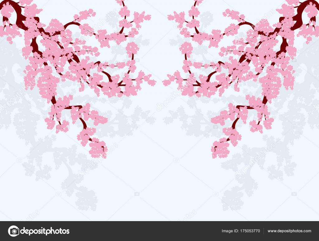 Sakura stilizzato curvi rami di un albero di ciliegio for Sakura albero