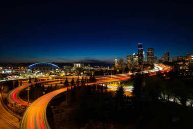 Long Exposure of Downtown Seattle