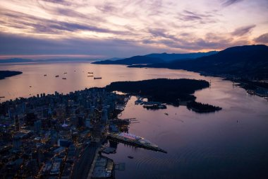 Lions Gate and Stanley Park Aerial