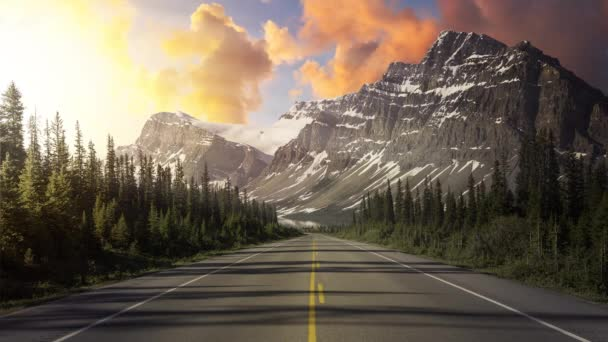 Cinemagraph Continuous Loop Animation of Scenic Road in Banff