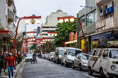 district Bairro da Liberdade in Sao Paulo