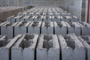 Concrete blocks on factory
