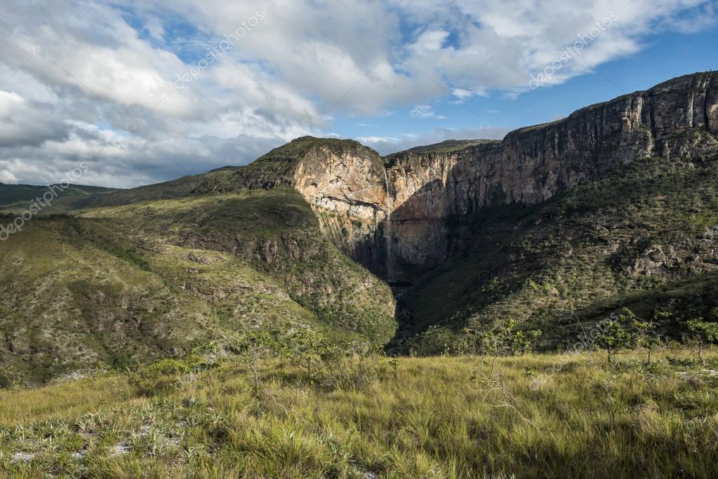 Tabuleiro Waterfall In Serra Do Intendente State Park
