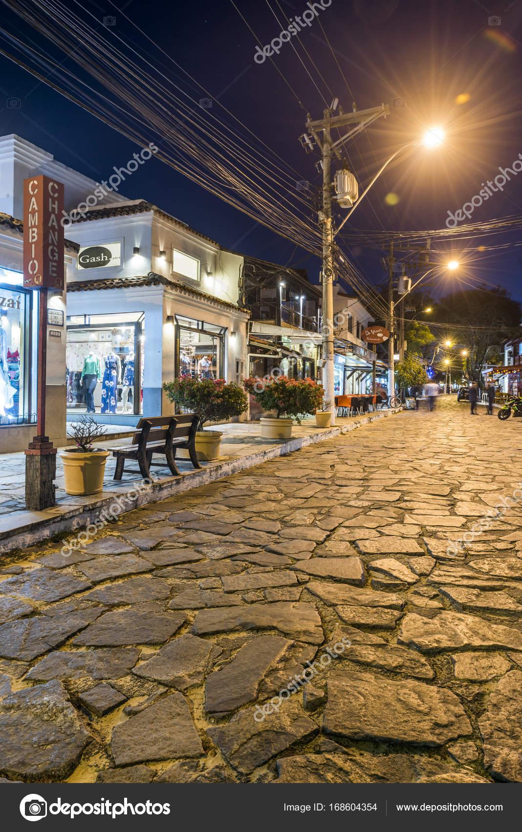 Rua Das Pedras Marco Central Buzios Rio Janeiro Brasil — Fotos de ...