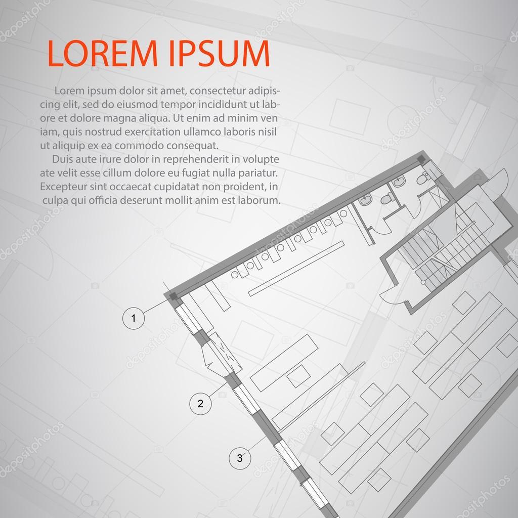 Detailplan architektonische Gestaltung. Konzeptionelle Arbeit des ...