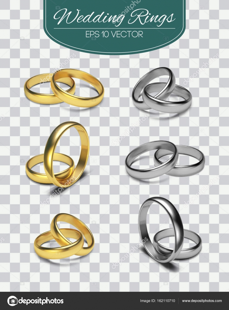 Gold vector wedding rings isolated on trasparent background vector gold vector wedding rings isolated on trasparent background vector illustration marriage invitation elements stopboris Gallery
