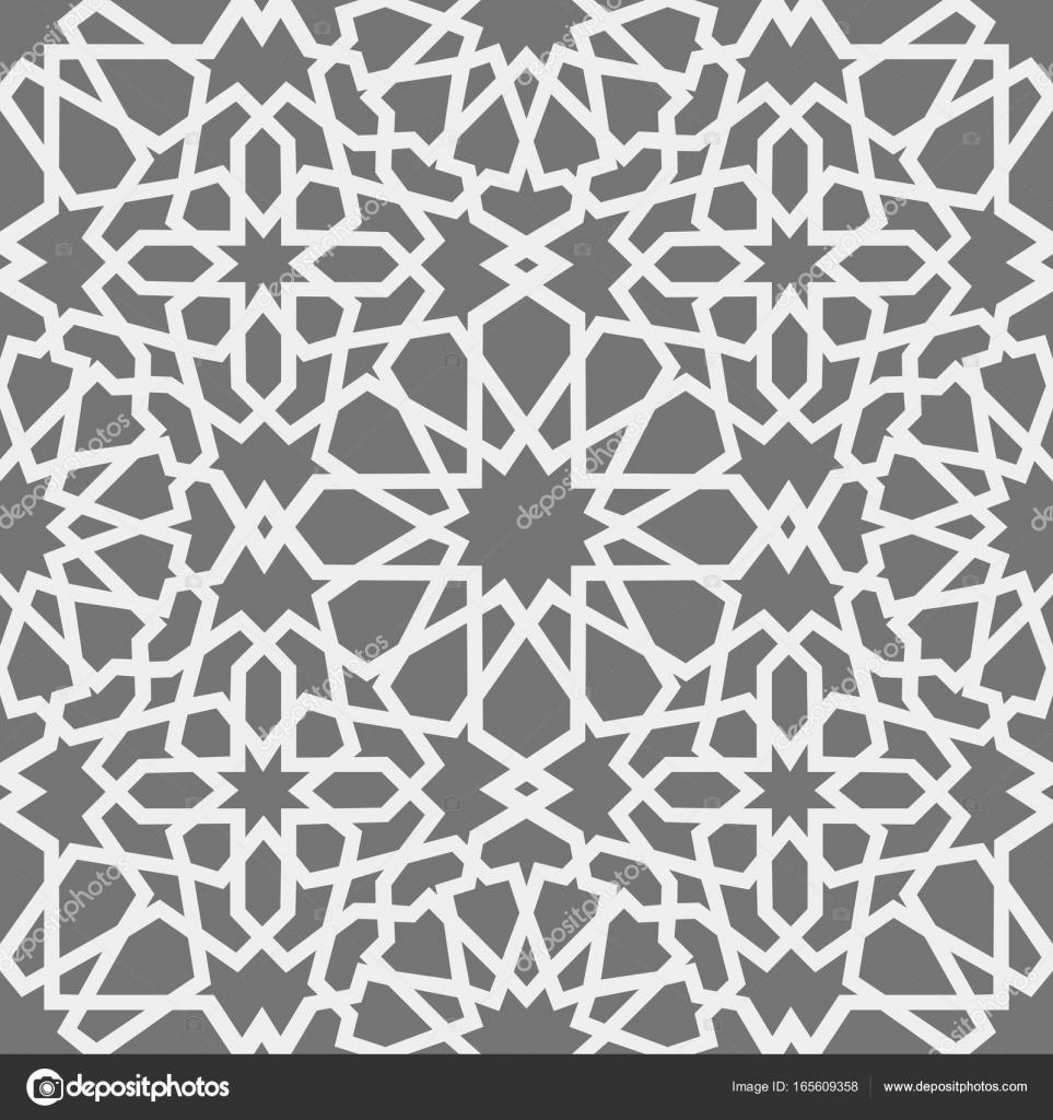 Patrón islámico. Sin fisuras patrón geométrico árabe, este ornamento ...