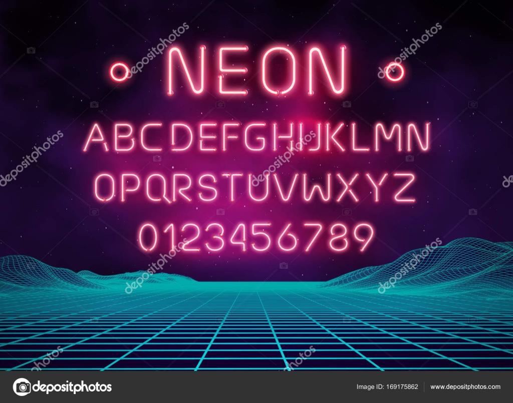 Light Neon Font Letter Set Bar Sign Vector Type Glowing Casino And Cinema Red Text Alphabet Retro By DamienGeso
