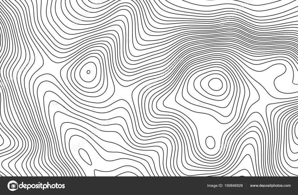 Contour Line Drawing Map : Topographic map contour background topo with elevation