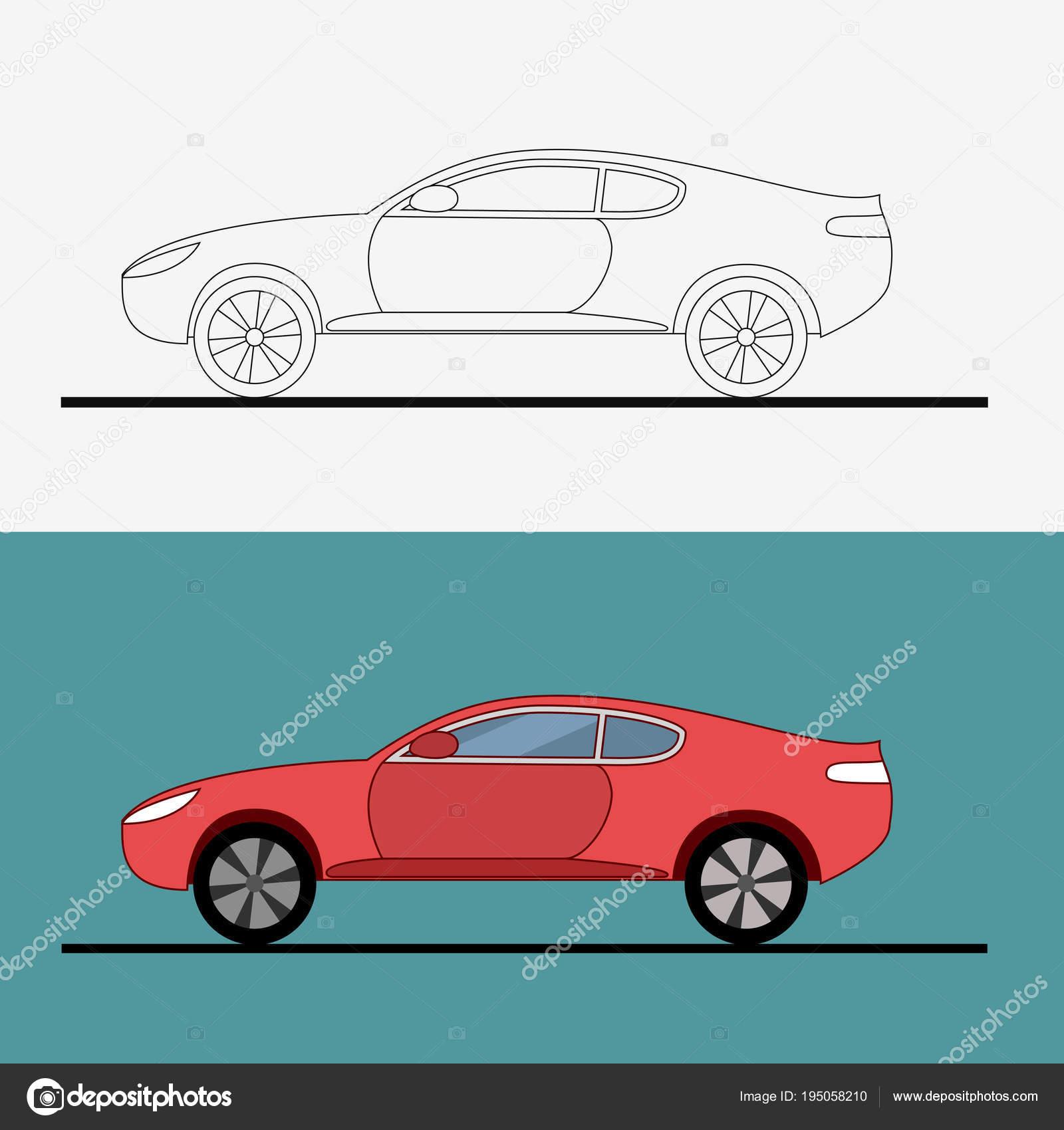Sport Auto-Logo auf weißem Hintergrund. Drag Racing. Auto ...