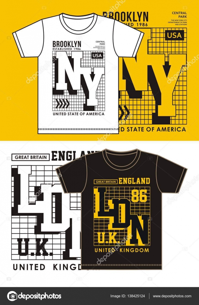 Typography New York With London For T Shirt Design Clothing Typography Sports Vector Stock Vector C Haerafandi 138425124