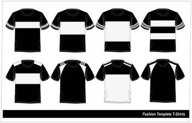 Template T-shirt Mode  Fashion, Vector.