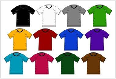 Template T-shirt raglan , Vector.