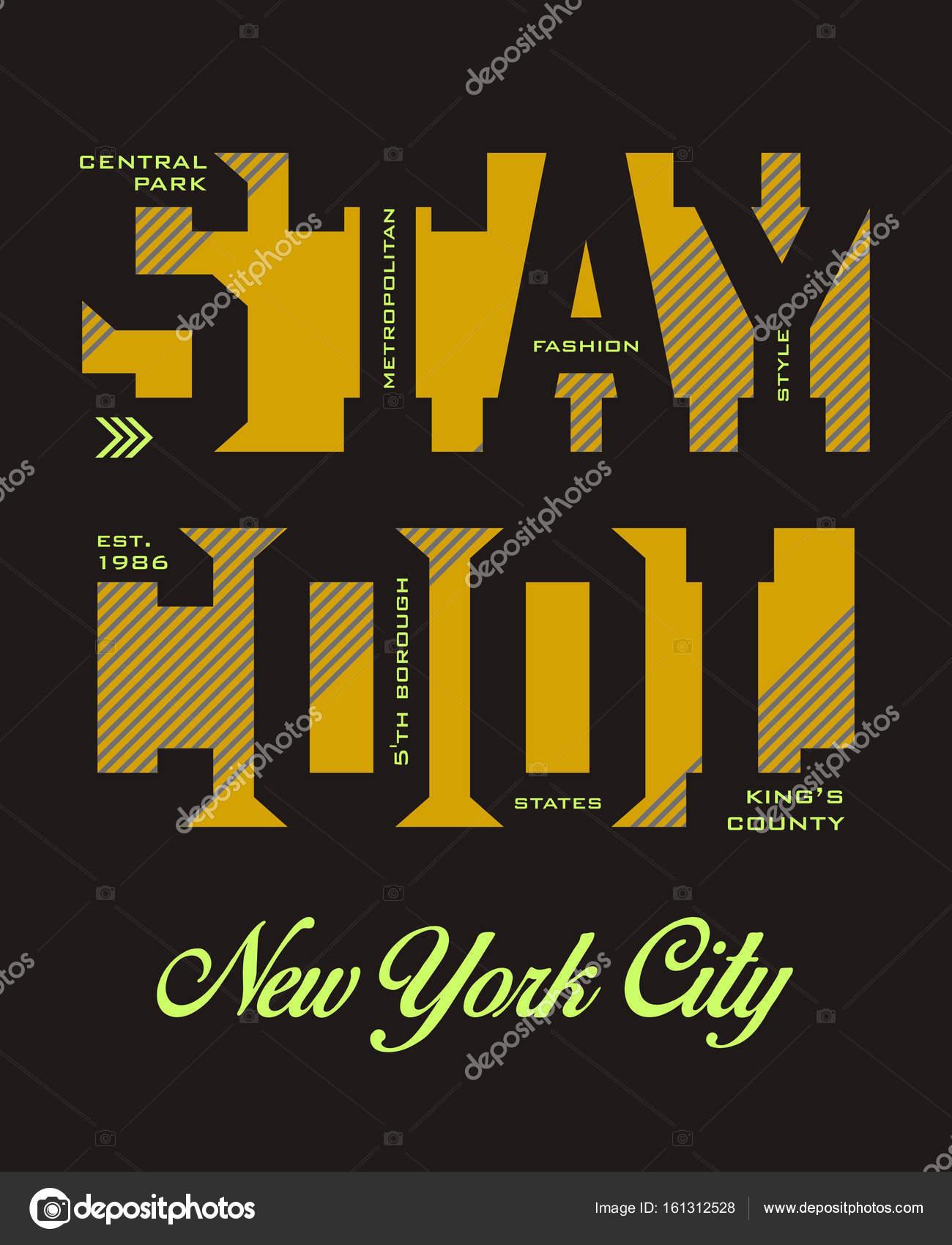 soggiornare cool new york city — Vettoriali Stock © Haerafandi ...