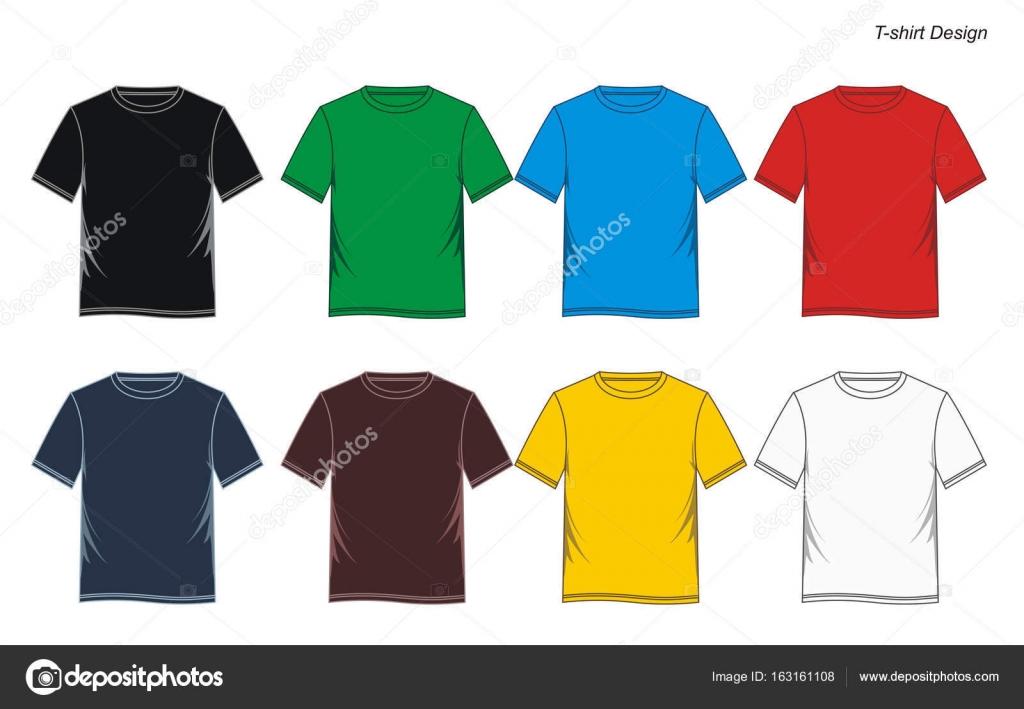 Mann T-shirt Vorlage bunt — Stockvektor © Haerafandi #163161108