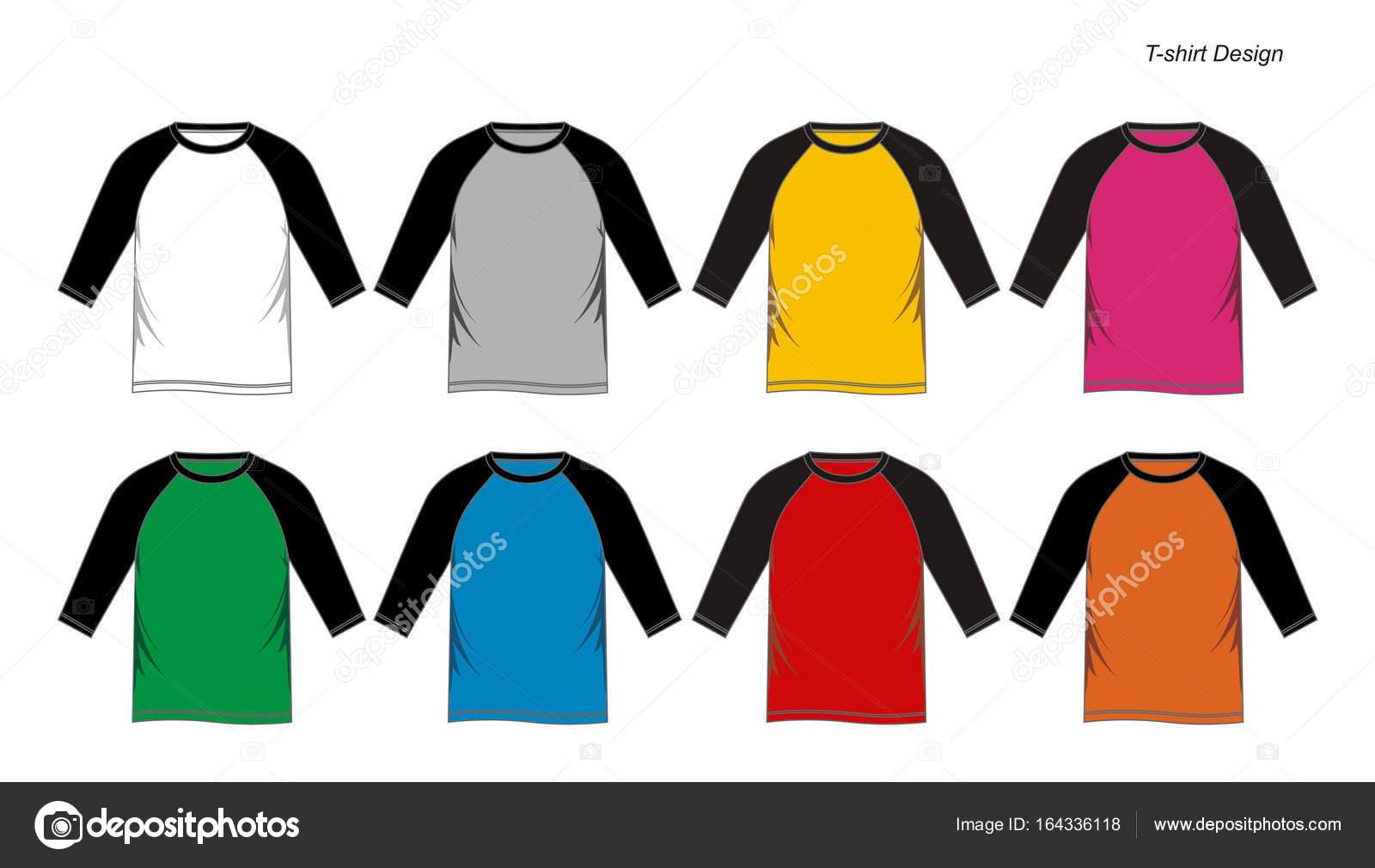 T-Shirt Raglan leere Vektor — Stockvektor © Haerafandi #164336118