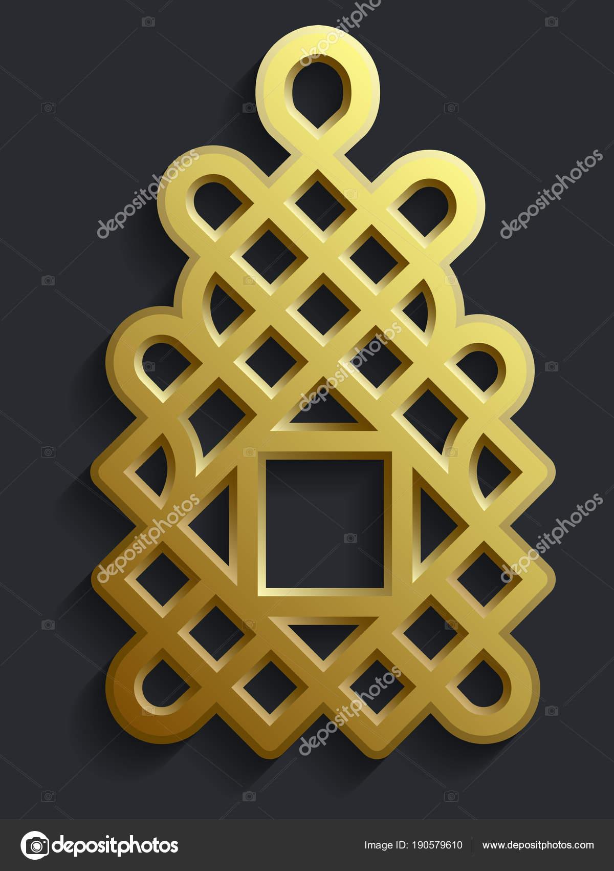 Islamische Orientalische Muster Abstrakte Vektorelement Des