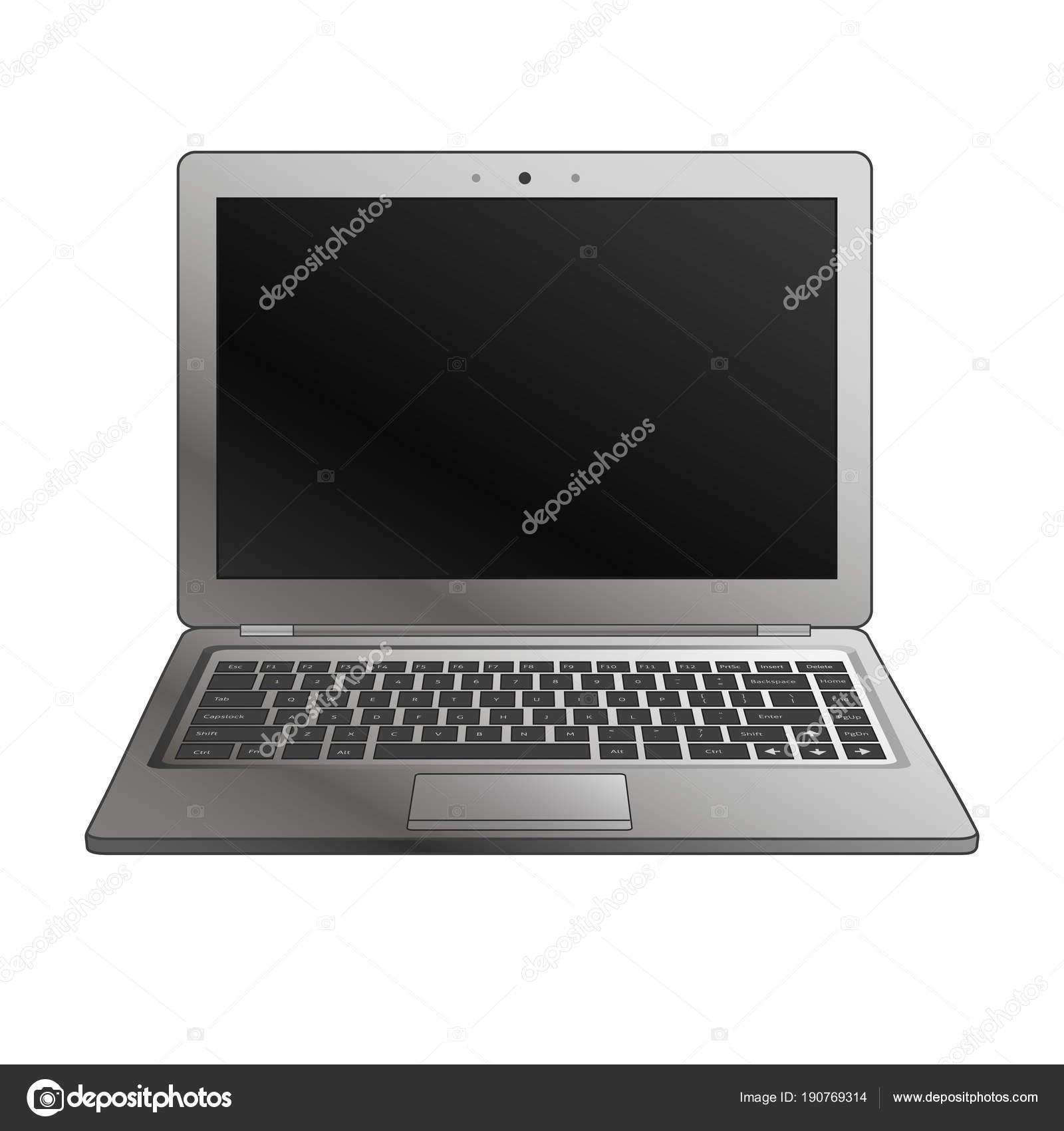 Laptop flache Mock-up im Vordergrund anzeigen. Minimale flaches ...