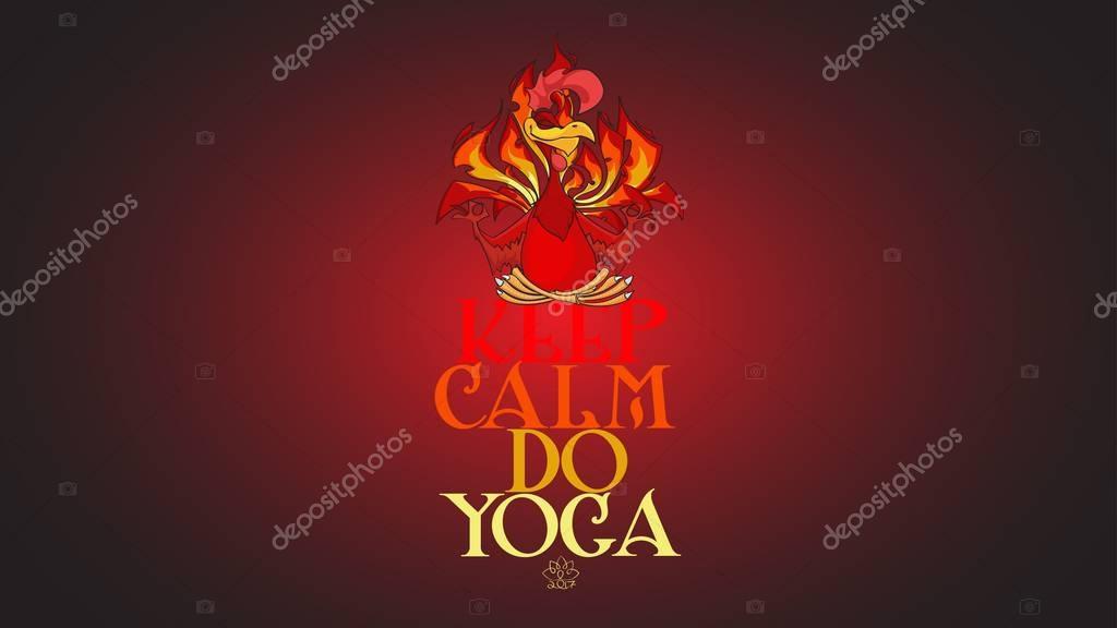 Auguri Di Natale Yoga.Lo Yoga Fiery Red Rooster Wallpaper Natale Mascotte Di