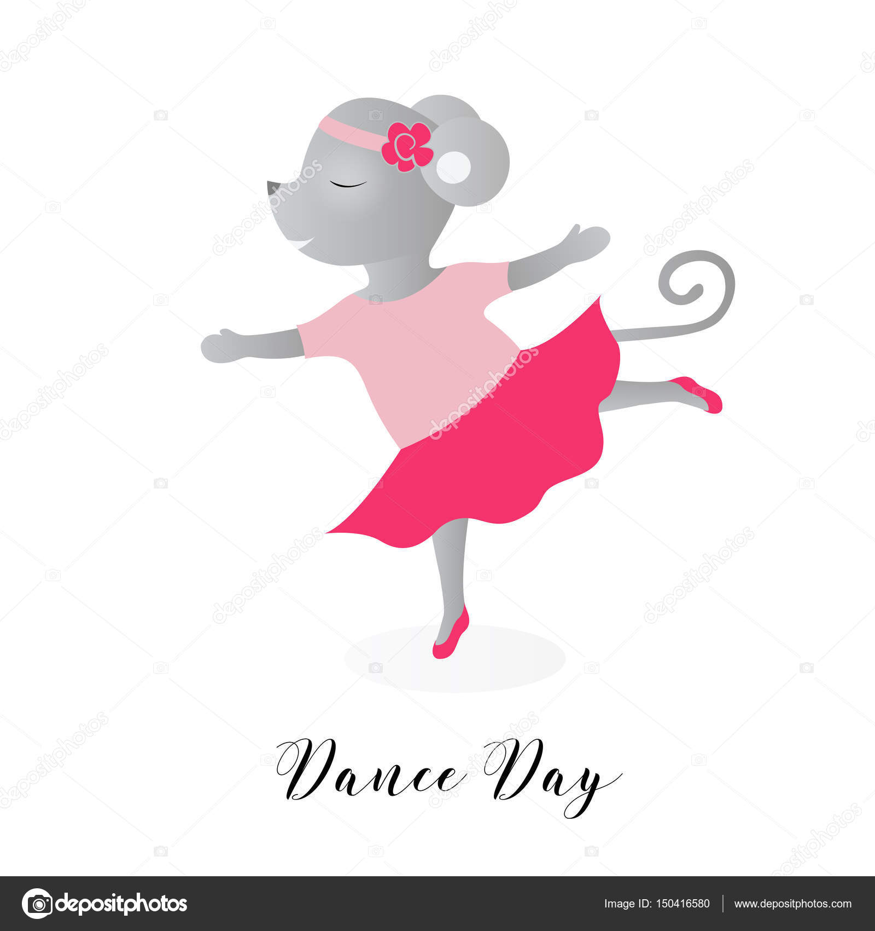 Día de la danza. Ilustración de vector para unas vacaciones. Las ...
