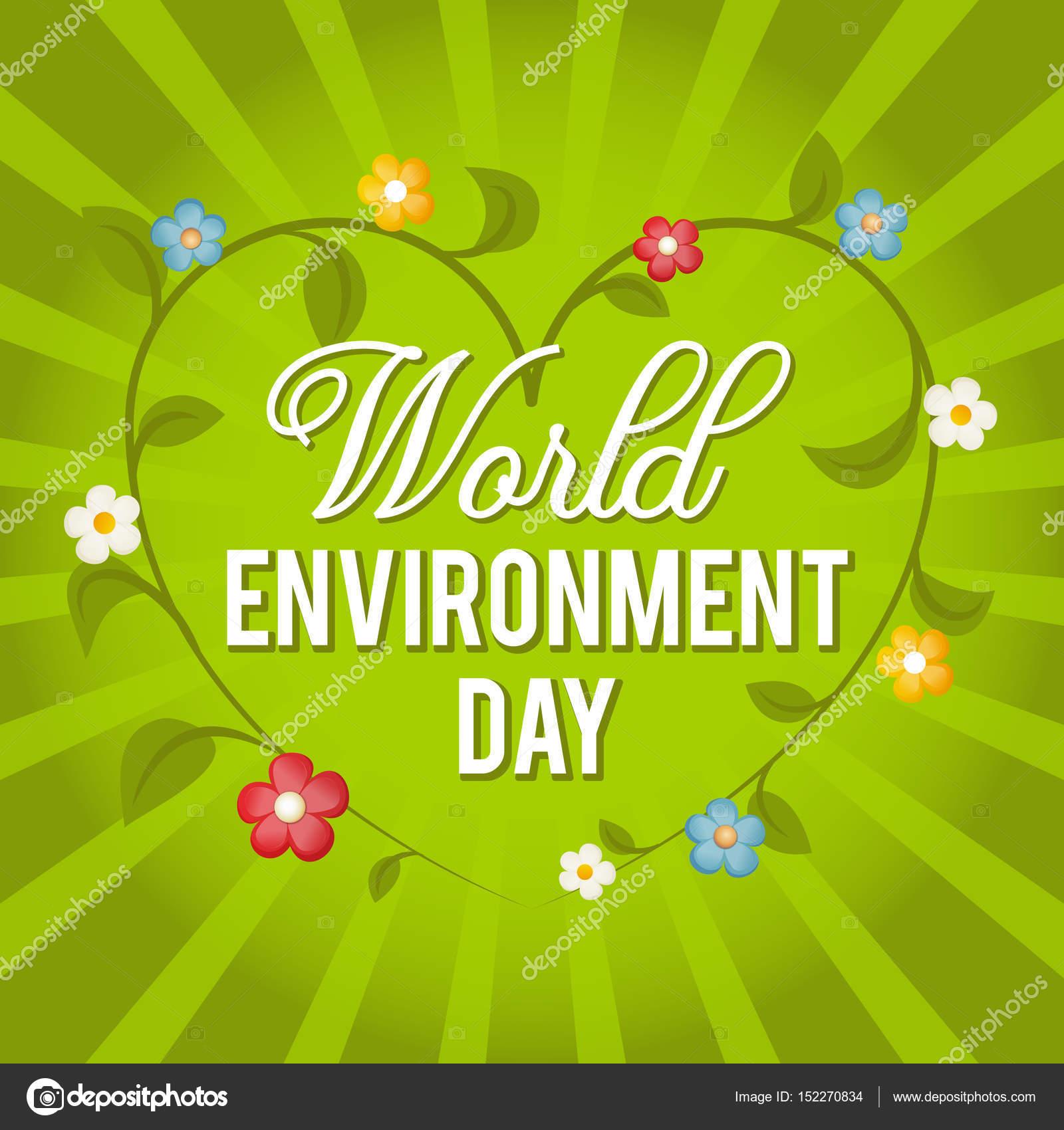 Día Mundial del medio ambiente. Ilustración vectorial para una ...