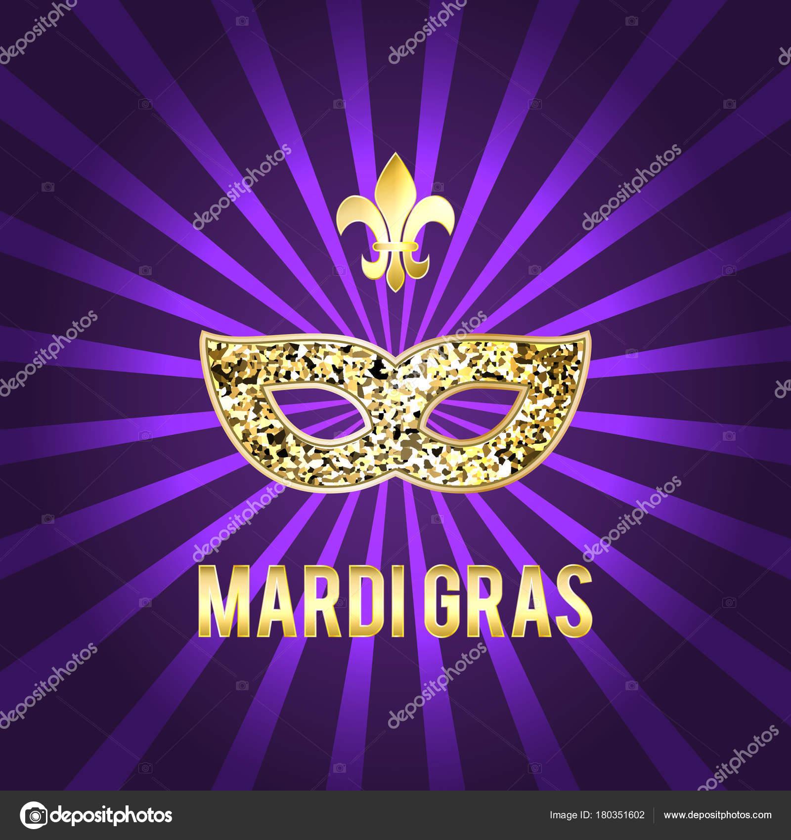 Ilustración para la fiesta de Mardi Gras. Imagen de vector. Máscara ...